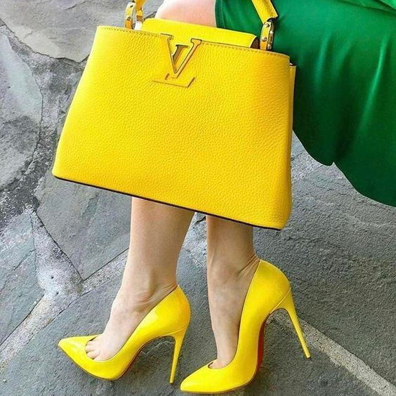 ست کیف و کفش زرد دخترانه فانتزی