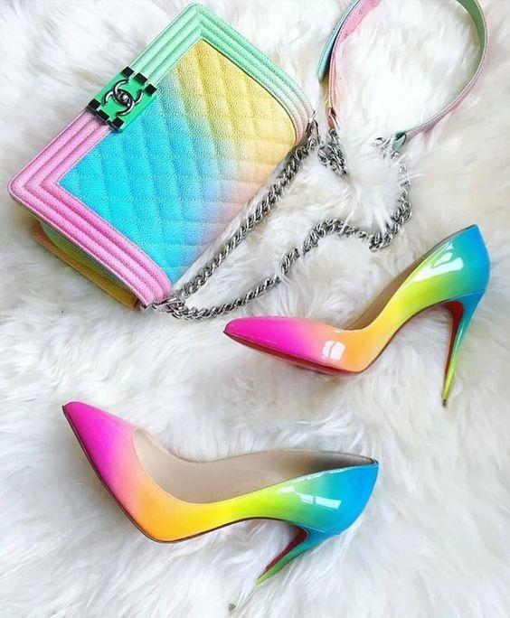 ست کیف و کفش مجلسی هفت رنگ