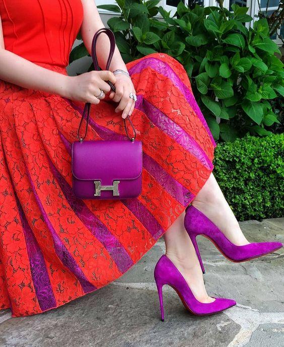 ست کیف و کفش پاشنه دار
