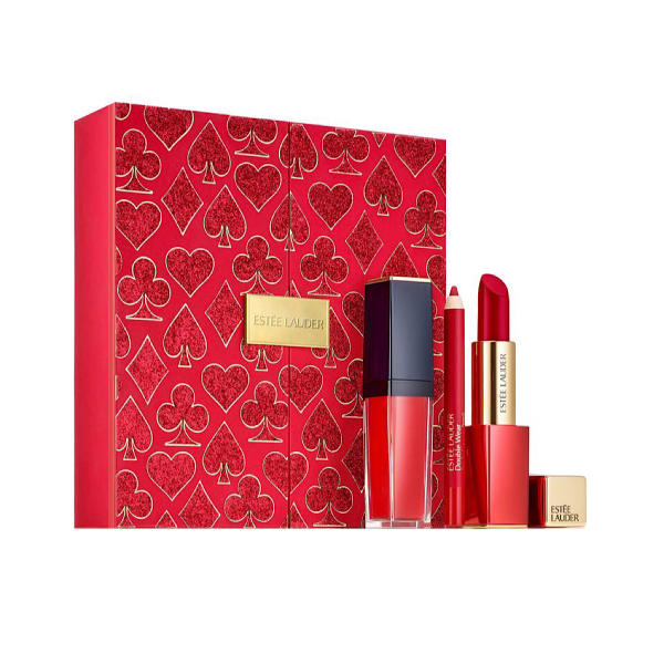 مجموعه آرایش لب استی لودر مدل Lady Luck Red Lips