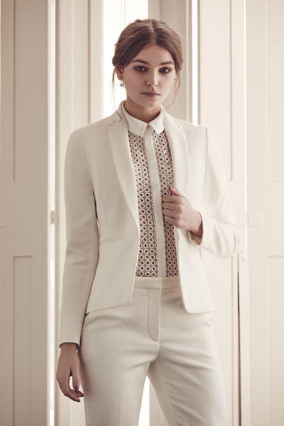 کت و شلوار سفید