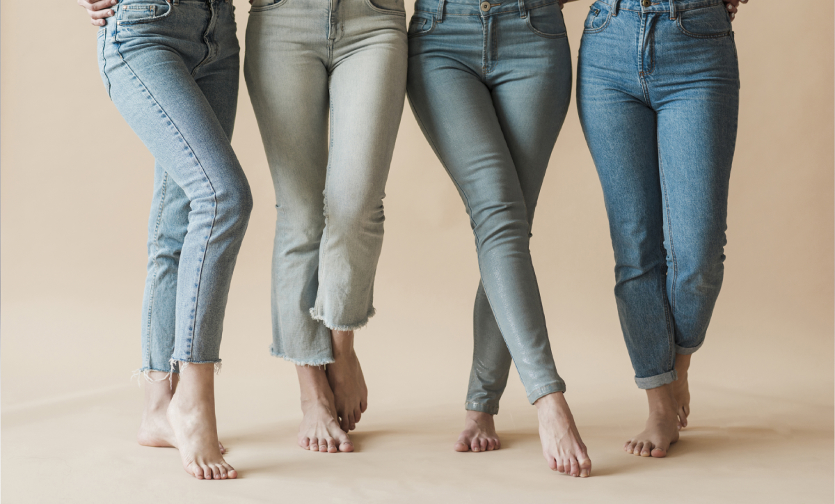 رنگ جین دخترانه