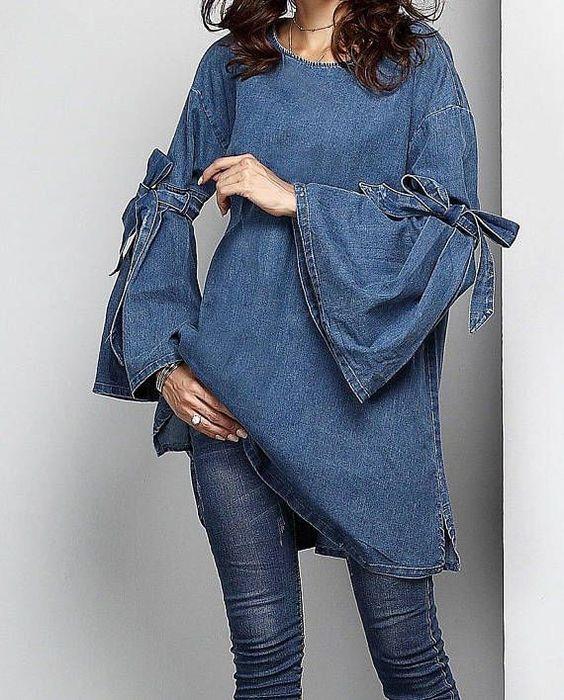 لباس جلو بسته جین دخترانه