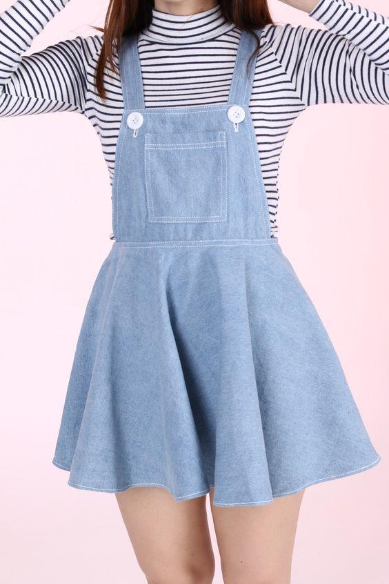 لباس جین دخترانه کوتاه