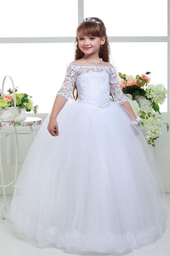 لباس عروس بچه گانه پف دار