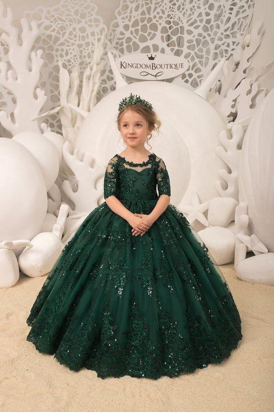 لباس عروس بچه گانه یشمی