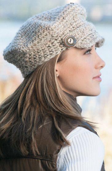 کلاه بافتنی لبه دار دخترانه