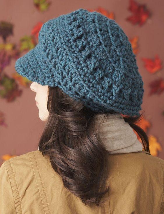 کلاه بافتنی لبه دار