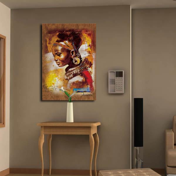 تابلو شاسی طرح پازل زیبای آفریقایی