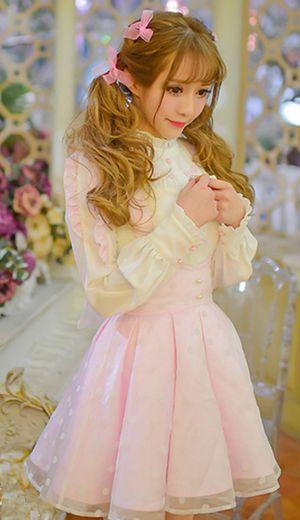 لباس عروسکی تور خال دار