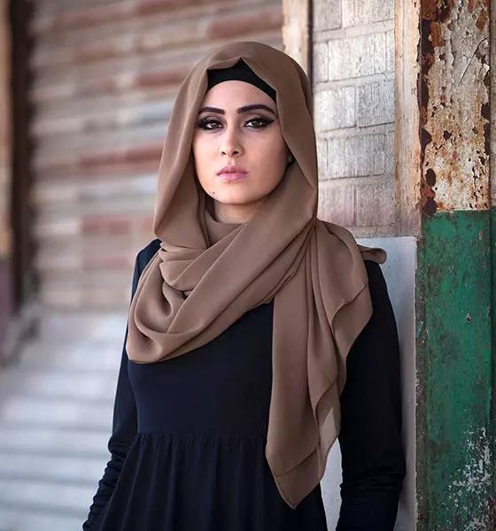مدل بستن روسری برای برای صورتهای چهارگوش و مربعی