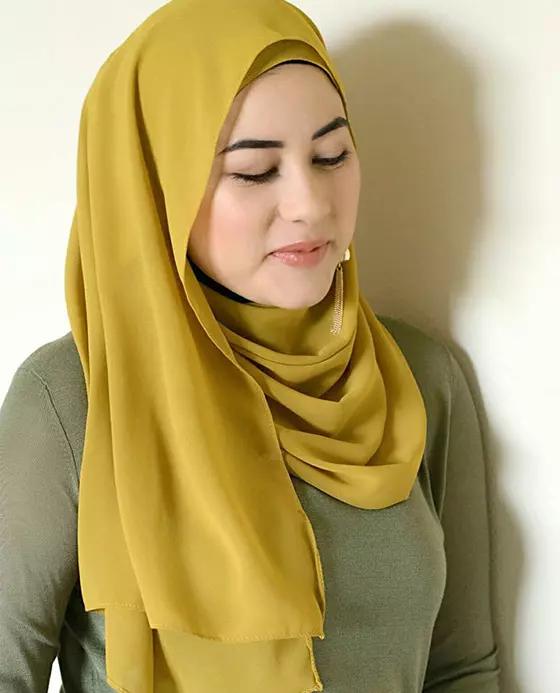 مدل بستن روسری یرای صورت بزرگ