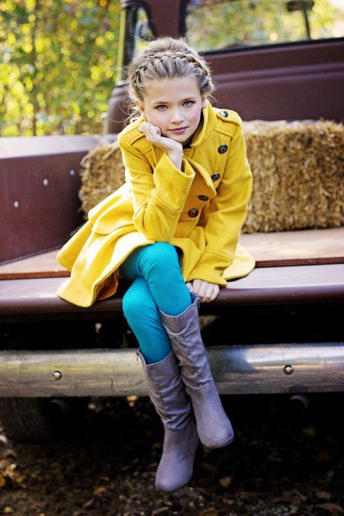 پالتو بچه گانه دخترانه زرد