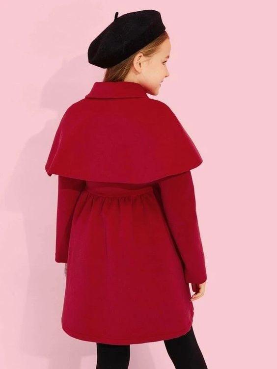 پالتو شنل دار بچه گانه دخترانه