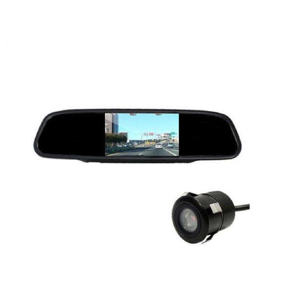 آینه مانیتور و دوربین دنده عقب خودرو استیل مدل 21232