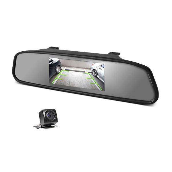 آینه مانیتور و دوربین دنده عقب رویال مدل ویژوال