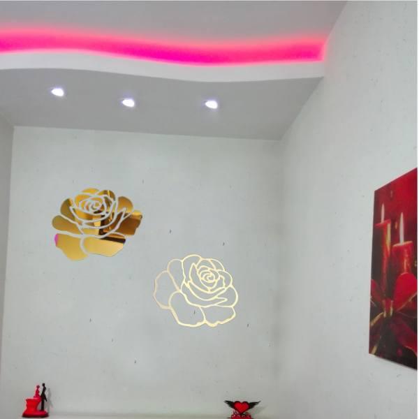آینه پلکسی گلس دکو پدیده مدل Flower10014