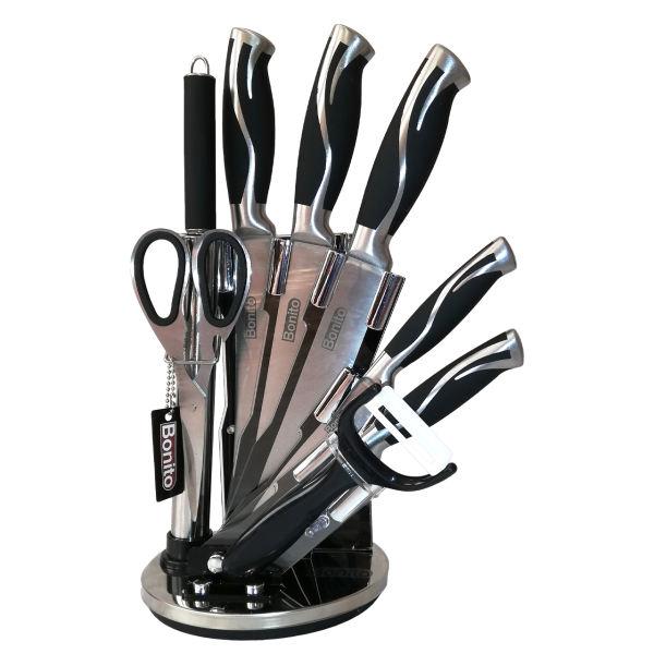 سرویس چاقو آشپزخانه 9 پارچه بونیتو کد 802