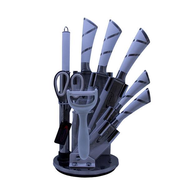 سرویس چاقو آشپزخانه 9 پارچه فلورانس کد 04