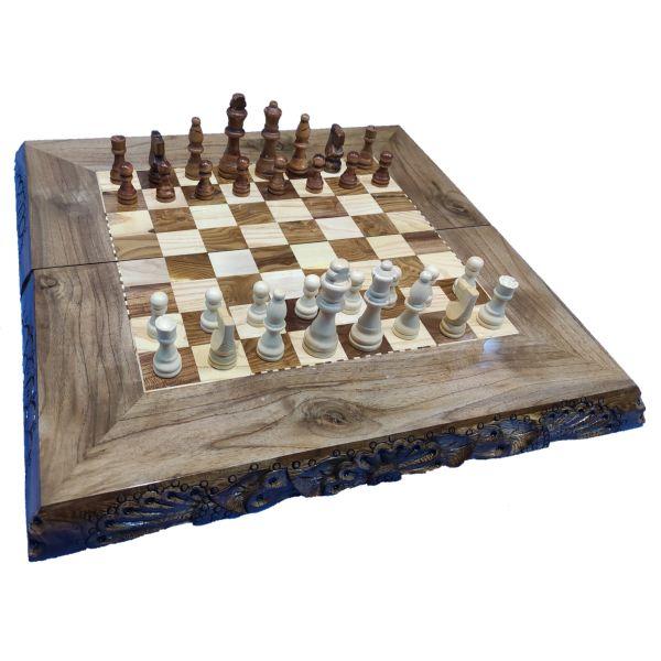صفحه شطرنج از چوبی طرحدار