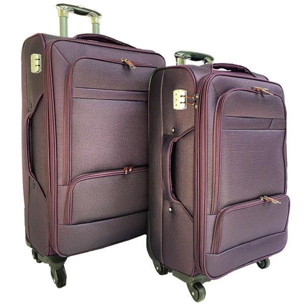 مجموعه دوعددی چمدان چند زیپ چرخدار