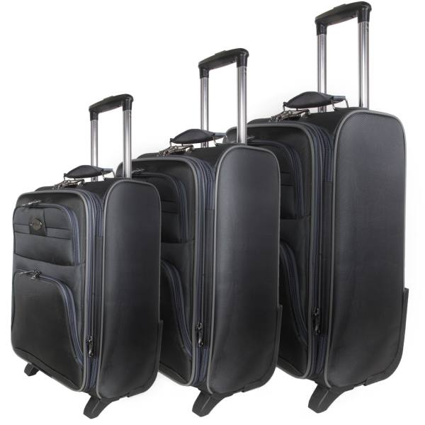 مجموعه سه عددی چمدان چرخدار چند زیپ