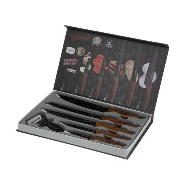سرویس چاقو آشپزخانه 6 پارچه زپتف مدل ZP- 016