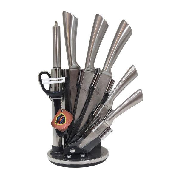 سرویس چاقو آشپزخانه 9 پارچه نوبل کد 007