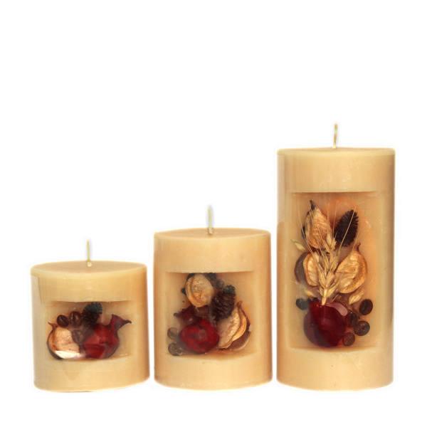 شمع مدل درنا مجموعه 3 عددی - تزئین با میوه