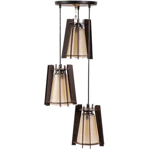 لوستر و چراغ آویز 3 شعله سهیل مدل هرمی