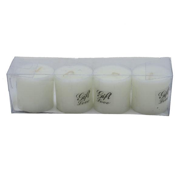 شمع استوانه ای مدل Gift 1 مجموعه 4 عددی