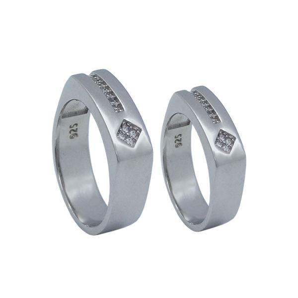 ست انگشتر نقره زنانه و مردانه کد TSVR0011