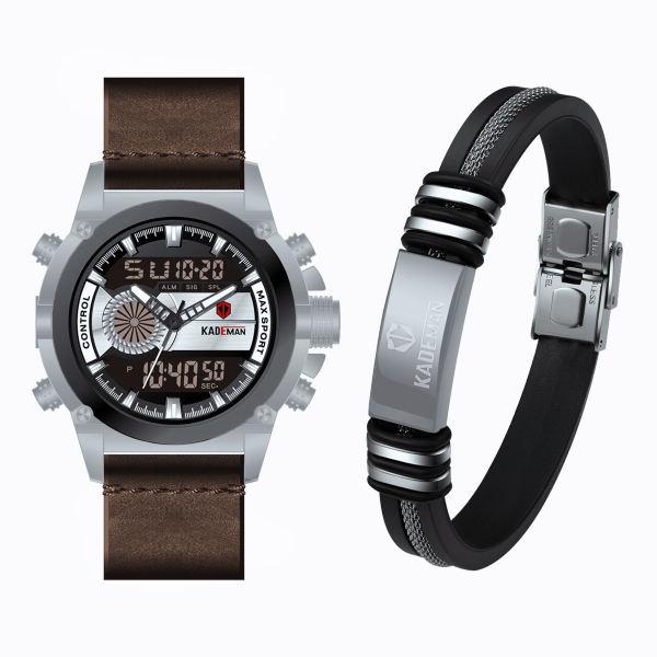 ست ساعت مچی دیجیتال و دستبند مردانه کیدمن مدل K347GB
